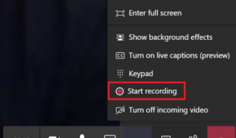Using Microsoft Team when Working from Home